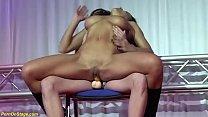 b. strapon sex on public stage