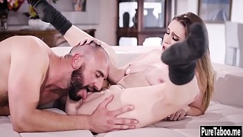 Hot niece deepthroated by a bad uncle with huge dick 6 min