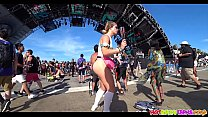 Amazing Big Ass Bodysuit Thong Raver Girl Spied at concert