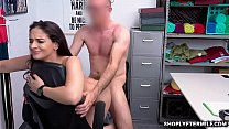 Sheena Ryder getting a hard dick down from behind doggystyle from the pervy security officer