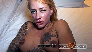 Blonde German FitxXxSandy lets modern-day Tarzan cum on her big fake tits! ▁▃▅▆ WOLF WAGNER LOVE ▆▅▃▁ wolfwagner.love