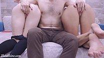 Horny Teen Handjob Dick Friend after Masturbation Pussy and Orgasm