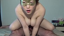 CHINESE HOOKER BIG NATURAL TITS SLOW MOTION CREAMPIE (GABY)