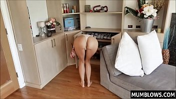 watching Mom bend over