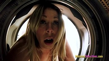 Fucking My Busty Step Mom While She is Stuck in the Washing Machine - Nikki Brooks