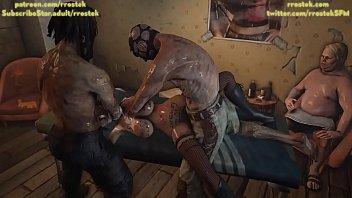 Lulu providing escorts services to multiple depraved men inside a shady hotel room 3D Animation 3 min