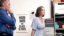 Busty Brunette MILF Steals And Hides Stuff In Her Ass- Krissy Lynn