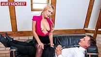 LETSDOEIT - #Lena Nitro - Teasing Lusty German Secretary Sucks And Rides Her Boss At The Office