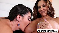 Hot lesbian fucking with stacked Alison Tyler and Ava