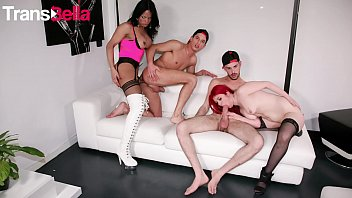 TRANS BELLA - #Bia Mastroianni - Big Ass Latina Tranny Hot 4some Party With A Lady