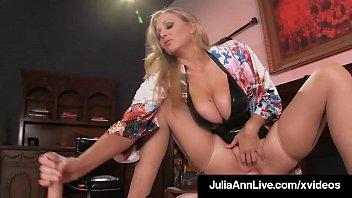 Super Hot Mom Julia Ann Rides Slave Boy Face With Moist Muff 5 min