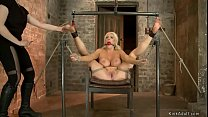 Big tits tied blonde is whipped