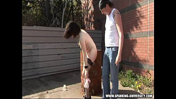 katrina spanked outside