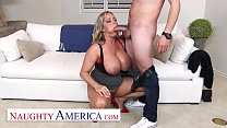 Naughty America - Amber Lynn Bach craves a Creampie from a young buck when she catches him taking photos of her