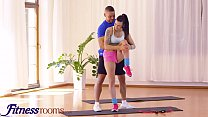 Fitness Rooms Big tits brunette Euro babe Billie Star stretched and fucked by her trainer