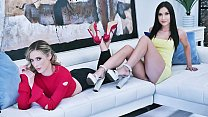 Aiden Ashley and Jazmin Luv want to fuck the same cock