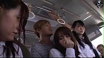 Young Cute Japanese Teens In Uniform Fucked Hard By Group On A Tram