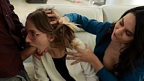 Adopted Daughter Offers Her Teen Body to Her New Daddy - Macy Meadows, Alexis Zara