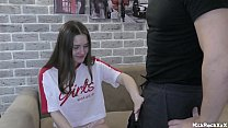 REAL ! LOSE VIRGINITY of TEEN girl ! first kiss with a guy , first blowjob , first vaginal experience . b. Bamby