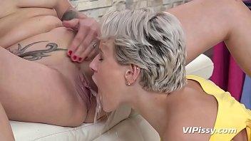 Gorgeous Blondes Enjoy Hardcore Pissing Session