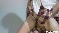 Stepdaughter fucked before and after school