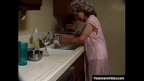 Indecent granny with grey-hair sucks off the black plumber