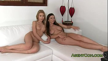 Two Russian teens fucked on casting