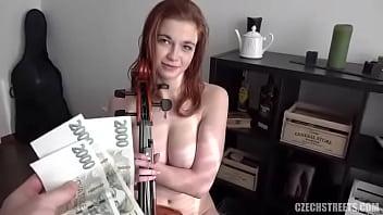 Sophia Traxler Nada - 18 yo virtuoso with DDD tits Czech Streets 117