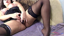 Horny Milf Fondles Herself and Orgasms With Sex Toy