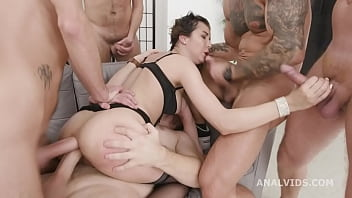 Triple Anal Masters Francys Belle 5on1 Balls Deep Anal, DAP, Gapes, TAP, Almost Buttrose and Creampie Swallow GIO1646