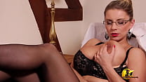 Huge tits MILF Katerina Hartlova as Secretary in glasses