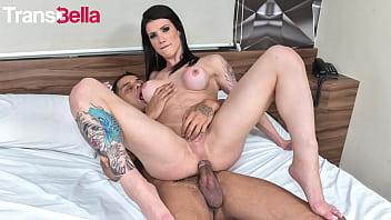 TRANS BELLA - #Victoria Carvalho - Big Tits Latina Tranny Rough Anal With Her Big Cock Neighbor