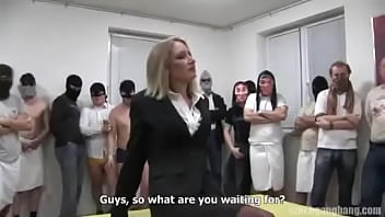 Married blonde gets gangbanged for the first time ever (And really loves it)