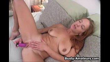 Busty chick Gabriella masturbates her pussy