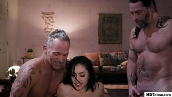 College girl having fun with older nostalgic men - Judy Jolie, Marcus London, Jack Vegas