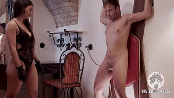 Pathetic Boy - give him pain on his little dick and useless balls