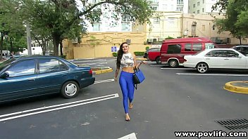 POVLife Busty latin punk babe fingered in the car
