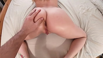 Girlfriend Sucking Dick and Ass Fucking on the Bed - Creampie