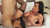 Stepson's Friend Catches MILF Changing and Fucks Her Raw!