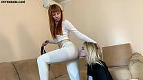 Mistress Kira in Sporty Yoga Pants - Lezdom Ass Worship and Facesitting