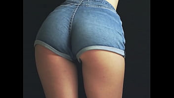 Tight Jeans Shorts Ass Shaking Booty Dance
