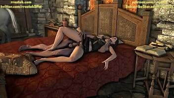 Yennefer pleasing Geralt 3D Animation