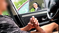 I take my big cock out on a motorway rest area ... OMG !! A nun this station next door ... how will she react?