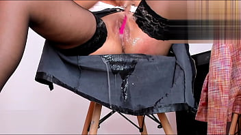 Masturbating And Squirting On My Skirt In The Office   KATE.HOT4CAMS.COM