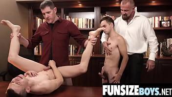 Big dick Dr Wolf goes deep in 2 tight ass twink boys-FUNSIZEBOYS.NET