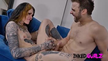 Inked Gurlz - The Inked Tranny Teller Get Fucked