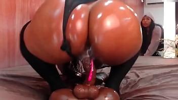 Big booty twerking on dildo hard