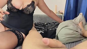 Big tits russian milf tinder slut gets both holes pov fucked