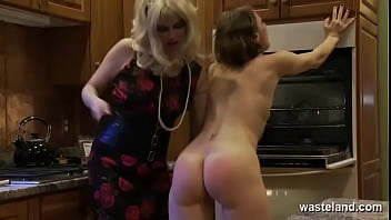 Dildo Fantasy For Horny Lesbian Couple In Kitchen