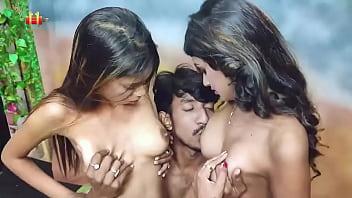 Two Hot Indian Girls Having Fun With Cameraman